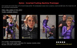 House of Gord: Quinn - Inverted Fucking Machine Prototype
