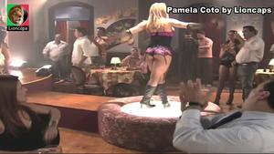 Pamela Coto sensual na novela Ribeirão do Tempo