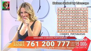 Helena Isabel sensual no concurso 1000 à hora