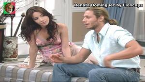 Renata Dominguez sensual na novela Bicho do Mato
