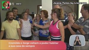 Joana Teles sensual em varios momentos na Rtp